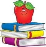 apple on books image
