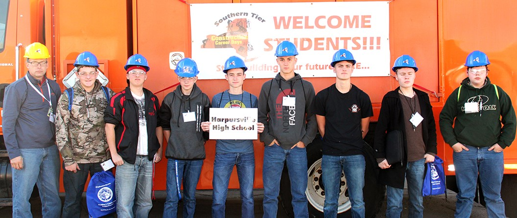 Getting hands-on experience at Construction Career Day