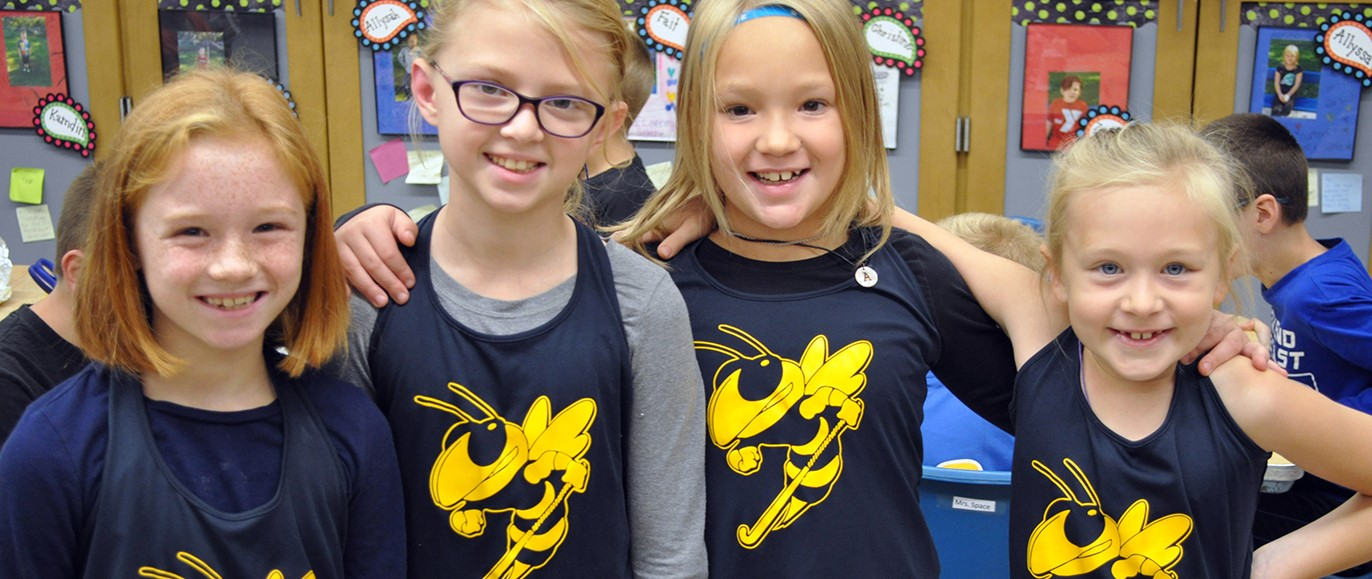 Students of all ages got into the spirit of things for Homecoming