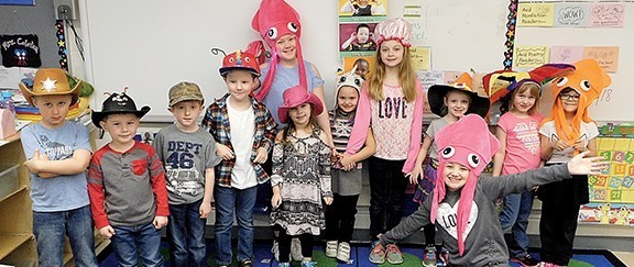 It's 'hats on' during Spirit Week at Olmsted