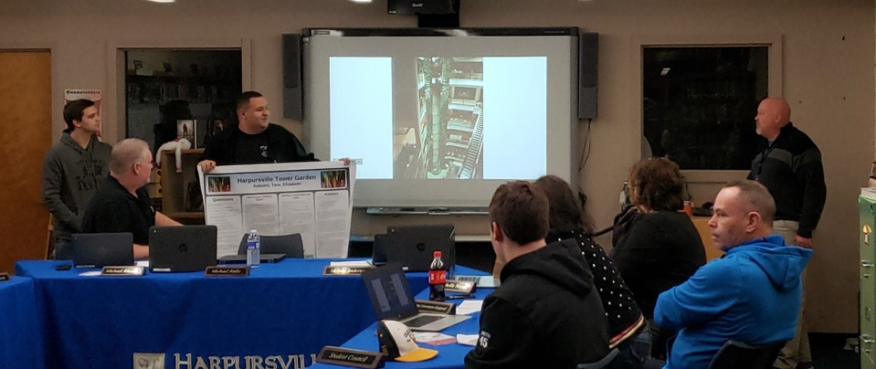 Brock, Seth and Mr. Muller's Growing Tower Presentation