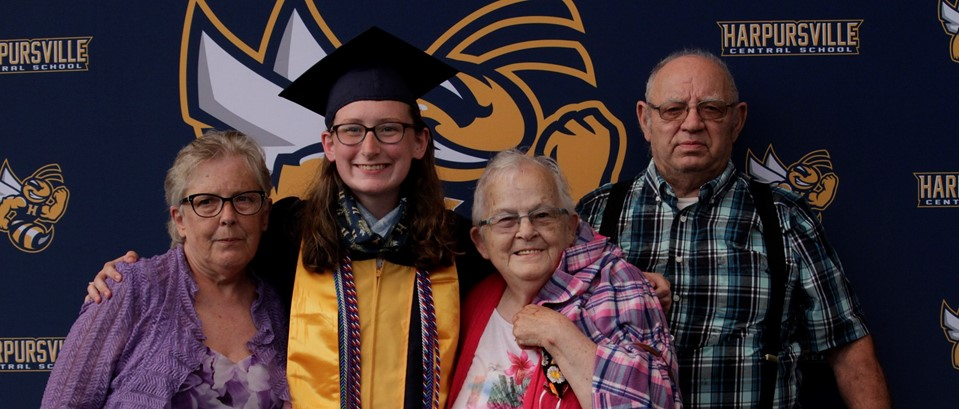 Karina Seeley and family Graduation 2020