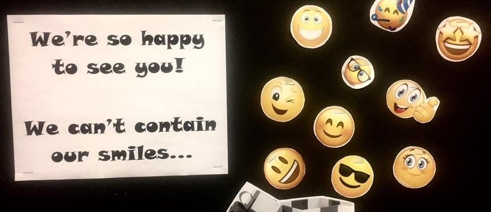 smiles bulletin board