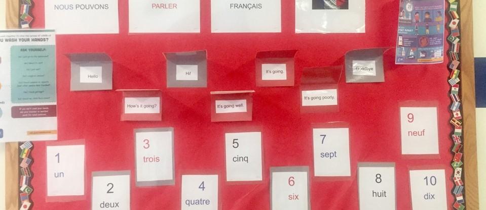 bulletin board - French